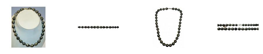 Schwarze Perlen Perlenketten