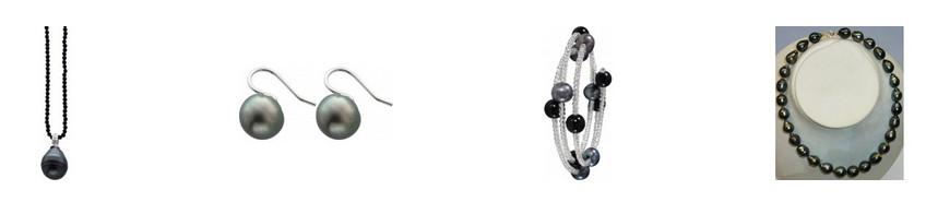 Schwarze Perlen Perlenschmuck