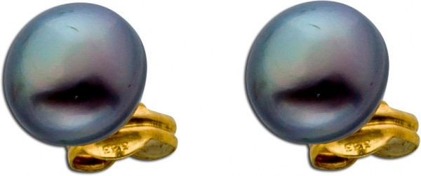 Ohrringe – Ohrstecker Gold 585 graufarbene Süßwasserzuchtperle Perlenschmuck