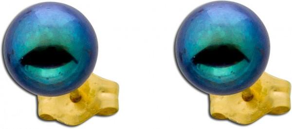 Ohrringe – Ohrstecker graue Süßwasserzuchtperlen