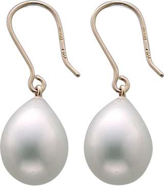 Perlenohrhänger – Goldohrringe Ge...