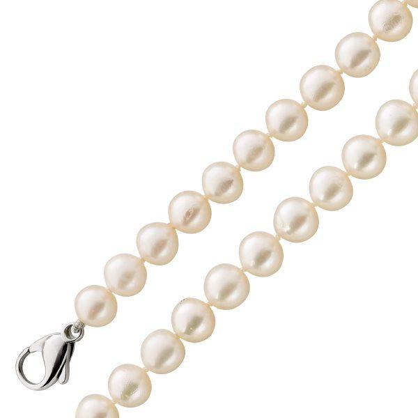 Perlenkette Weißgold 585 Kette Perlen weiß Akoyazuchtperlen