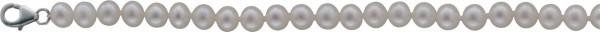 Perlenkette – 2-teiliges Set bestehend aus einem Perlencollier 44 cm und einem dehnbaren Armband. Beides ist aus schönen Süßwasserzuchtperlen Ø 6,5-7 mm. Das Perlencollier 44 cm ist mit einem Verschluß aus echtem Silber Sterlingsilber 925/-. Zum Schnäppch