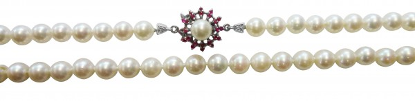 Perlenkette. Perlencollier 42cm lang  mi...
