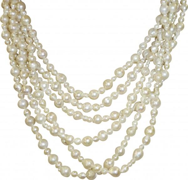Perlenkette – Perlencollier 68 cm ...