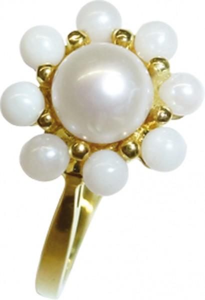glamouröser Ring in feinem Gelbgold 333...