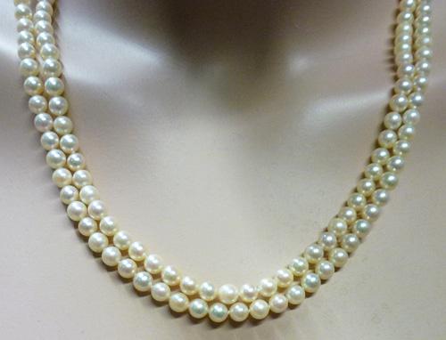Perlenkette – Perlen Perlencollier...