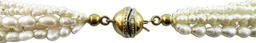 Perlenkette – Perlencollier Süssw...