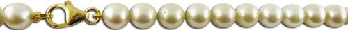 Akoyazuchtperlenkette mit 333 Gelbgold k...