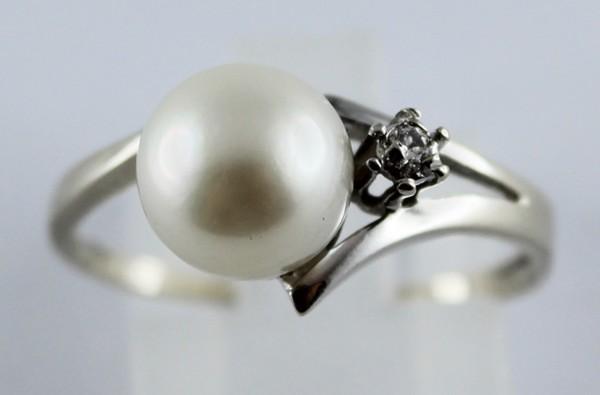 Ring in  Weissgold 585/-, japanische, Ak...