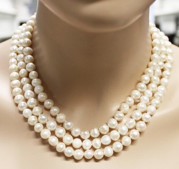 Perlenkette, Perlencollier, chinesische ...