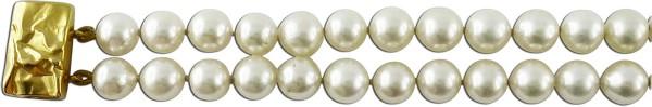 Armband 2-reihig Akoyazuchtperlen mit Goldschliesse 585