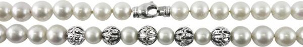 Perlenkette, Perlencollier, Weißgold, 1...