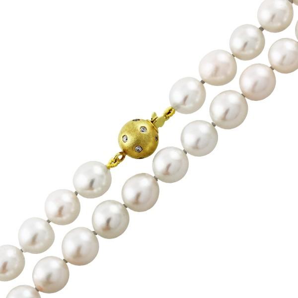 AAA weisse rosee Perlenkette – Per...