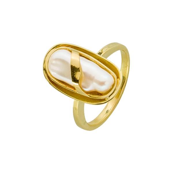 Ring – Perlenring Gelbgold 585 Biw...