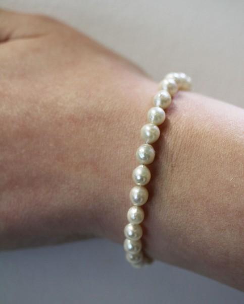 Armband – Perlenarmband Sterling Silber 925 japanische Akoyazuchtperlen