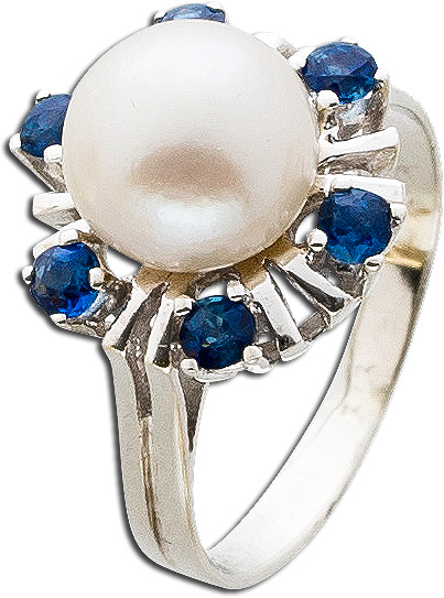 Ring – Perlenring Antik Weißgold ...