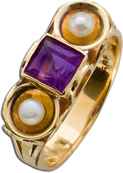 Ring – Goldring Antik Gelbgold 585...