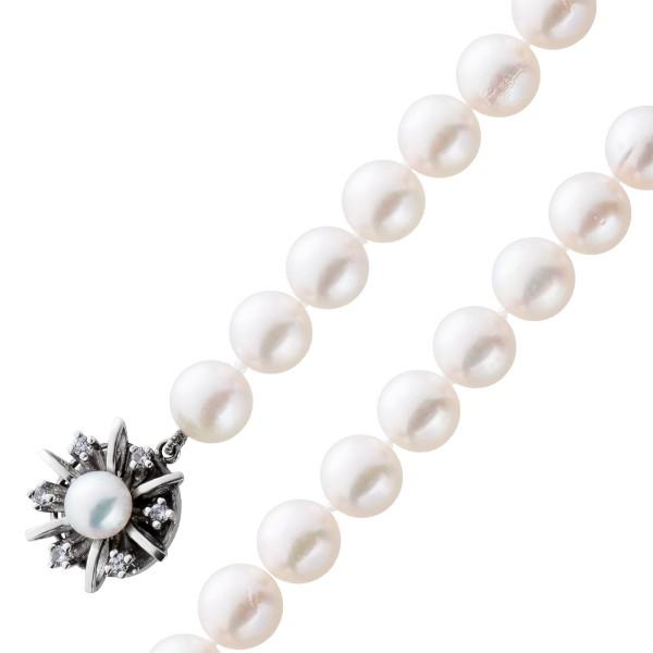 Perlenkette japanische Akoyazuchtperlket...