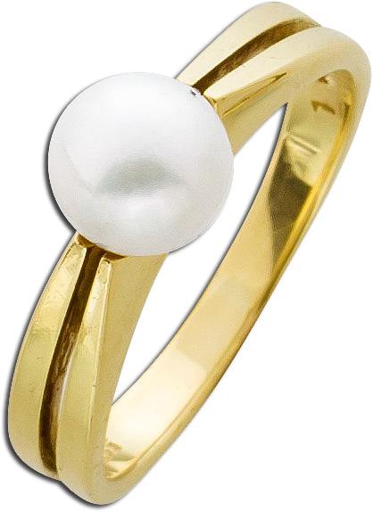 Ring – Perlenring Gelbgold 585 japanische Akoyazuchtperle