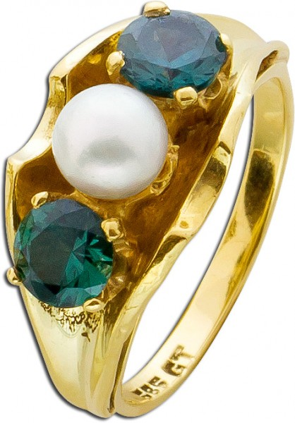 Ring – Edelsteinring Antik Gelbgol...