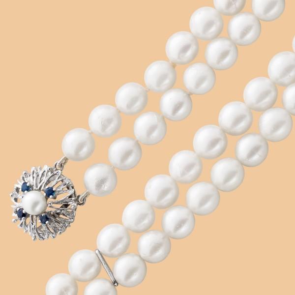 Armband – Perlenarmband Weißgold 585 japanische Akoyazuchtperle