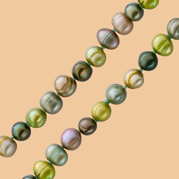 Perlenkette – Set Perlencollier Perlenarmband chinesische Süßwasserzuchtperle