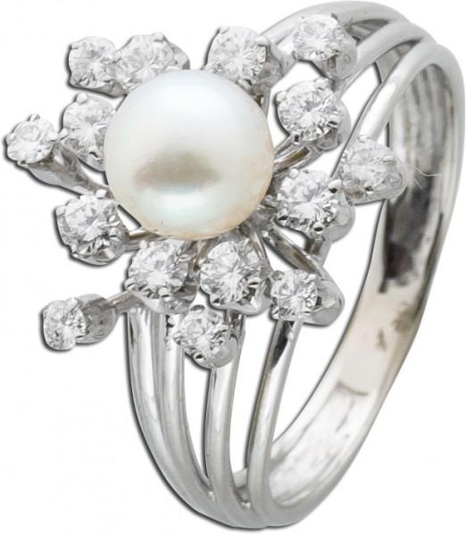 Ring Brillantring Weißgold 750 Antik 60...