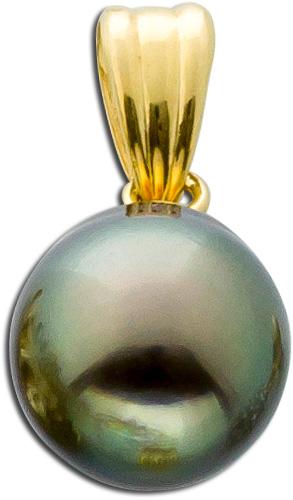 Perlenanhänger Gelbgold 585 Tahitiperle