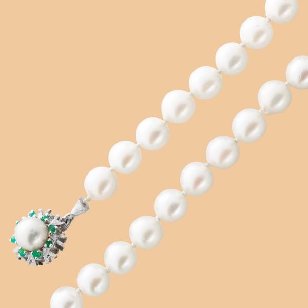 Perlenkette – Perlencollier Gelbgo...