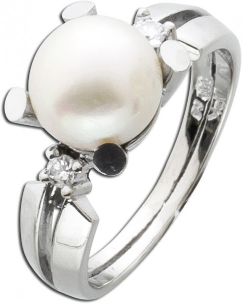 Antiker Ring  50er Jahre Weißgold 585 j...