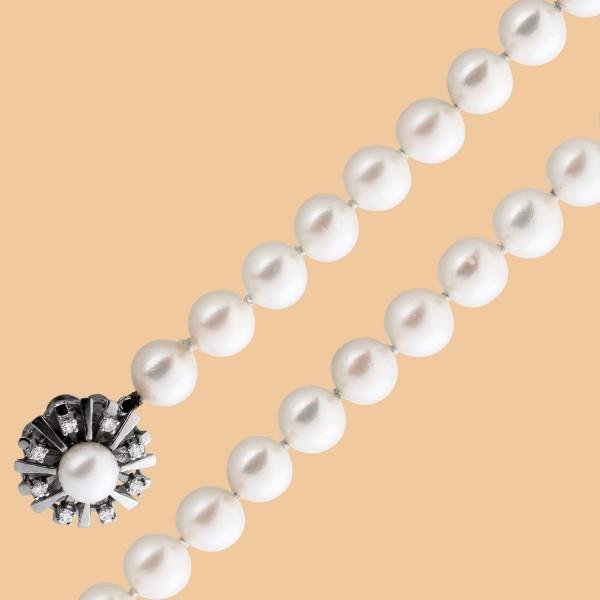 Perlenkette Antikes Perlencollier Akoyap...