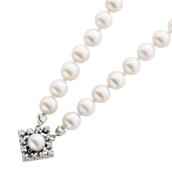 Japanische Akoya-Perlenkette Antik Top Z...