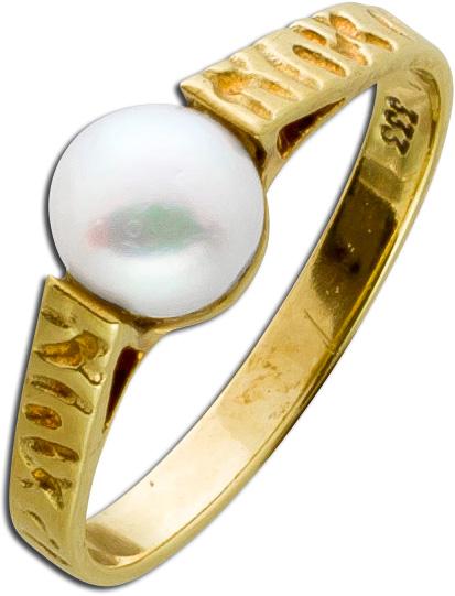 Damen Ring Gold 333 japanische Akoya Per...