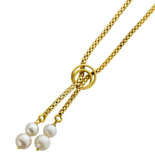 Collier Venezianerkette Gelbgold 585 Per...