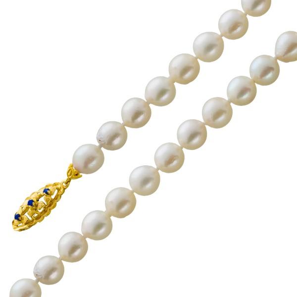 Perlenkette weiß rose japanischen Akoya...