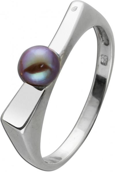 Antiker Perlen Ring Perlring Gelb Gold 3...