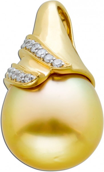 Anhänger Gelbgold 585 Südseeperle gold...