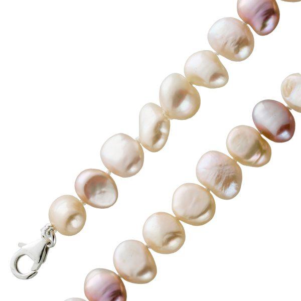 Collier Japanische Biwa Perlen Sterling Silber 925