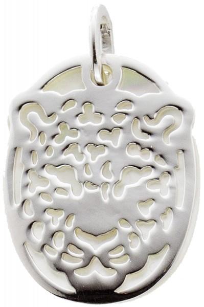 Anhänger Löwenkopf in Silber Sterlings...