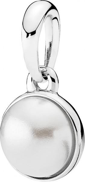PANDORA Anhänger 390400WCP Weißer Tropfen Silber 925 weiße Kristallperle