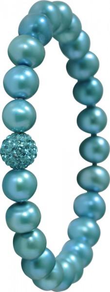 Shamballa Armband mit Süsswasserzuchtperlen und Kristall