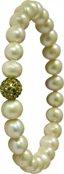 Shamballa…..stretch und flex Shamballa-Armband aus echten hellgrünen Süsswasserzuchtperlen 8-9 mm, dehnbar von 18-21cm mit Kristallkugelzwischenteil besetzt mit grünen Kristallsteinen. Der Trend aus Amerika exklusiv bei uns, ein strahlender Eyecatcher f