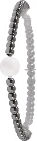 Armband in Silber Sterlingsilber 925/-, rutheniert, dehnbar
