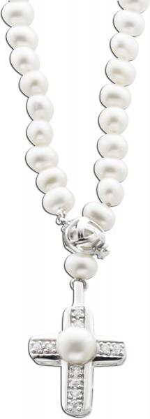 Perlenkette Sterling Silber 925, Süsswa...