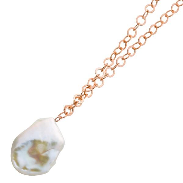 Perlenkette Sterling Silber 925 roséver...