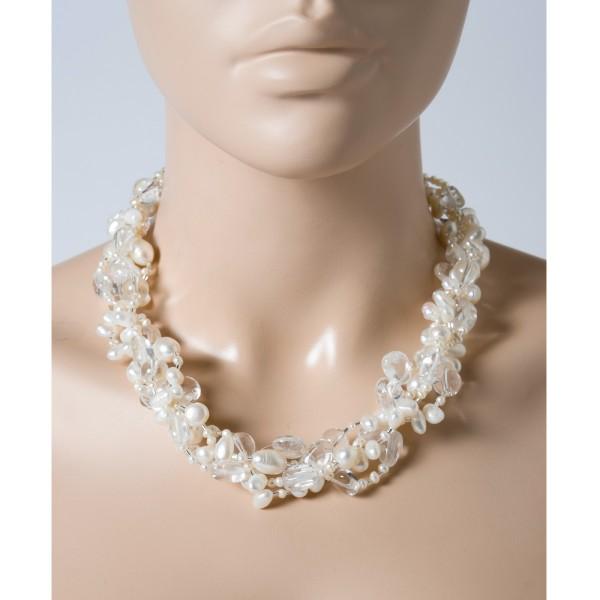 Perlenkette – Perlencollier Statem...