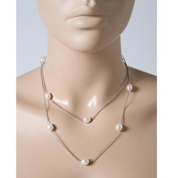 Perlenkette – Perlencollier Kette ...