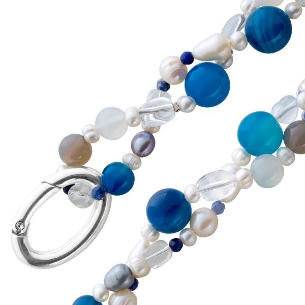 Perlenkette Perlen weiß Kette Edelstein...