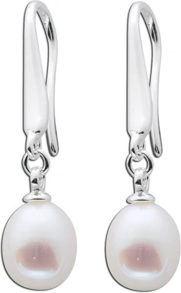 Perlenohrringe Perlen Ohrhänger Silber ...